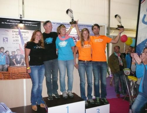 Stodeus team on the French XC tandem podium