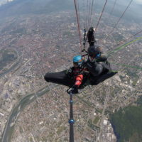 stodeus tem flying above grenoble