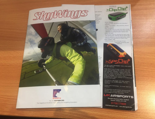 Solar-powered vario and GPS in Skywings Magazine